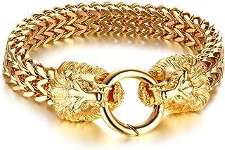 Best gold plated lion head bracelet Reviews