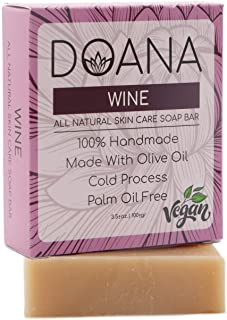 Wine Soap Bar - VEGAN/PALM OIL FREE, Rich Vitamin Content, Anti Acne - Anti Pimple, Reduce Wrinkles, Anti Fungal, Anti Inflammatory