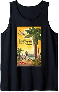 Los Angeles Fly TWA Retro Vintage Poster Design Tank Top