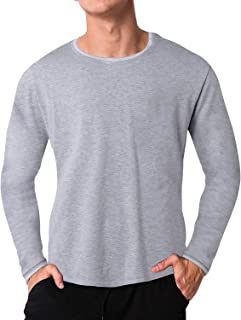 MODCHOK Mens T-Shirt Long Sleeve Casual Shirts Crew Neck Tee Lightweight Slim Fit Tops