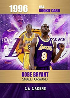 KOBE BRYANT Limited Edition Novelty Basketball Rookie Card Depicting his 1996 Rookie Year - Only 2000 Made