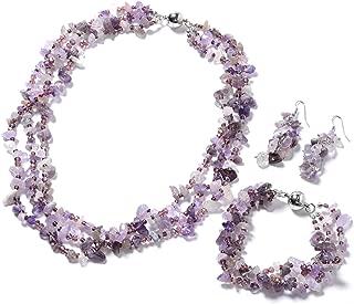 Handmade Multi Strand Beaded Silvertone Bracelet 8