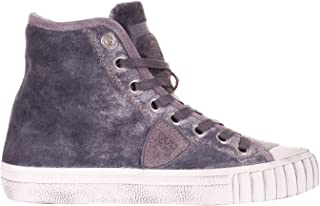 Philippe Model Sneakers Donna, all Stars, Alte, Velluto, Grigio A/I2018