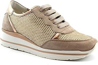 Melluso Walk R20033 Rame Rosa Cipria Scarpe Sneakers Donna Lacci