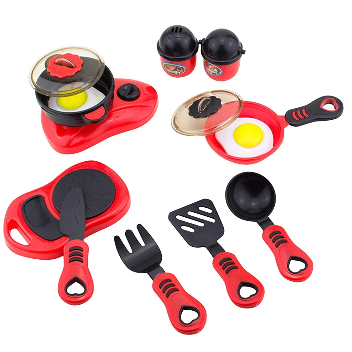 ボランティア手荷物独立ゴシレ Gosear 12ピース子供シミュレーション鍋フライパンスプーンナイフ調理器具キッチン玩具キッチンふりプレイセットロールプレイ玩具キット