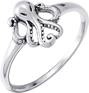 Jewelry Sterling Silver Octopus Ring