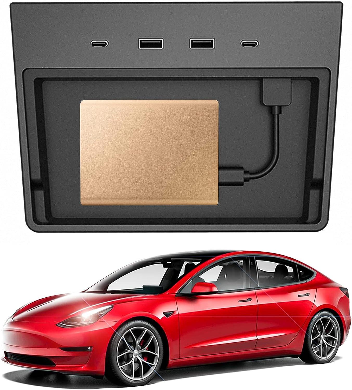 Tesla Model 3 USB Max 75% Nashville-Davidson Mall OFF Hub 5 Center Adapter 1 Console in Accessories