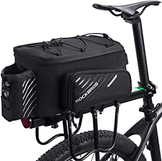 Traveler Silver Alloy Bicycle Pannier Rack Cargo Carrier Bag Holder Storage Bags