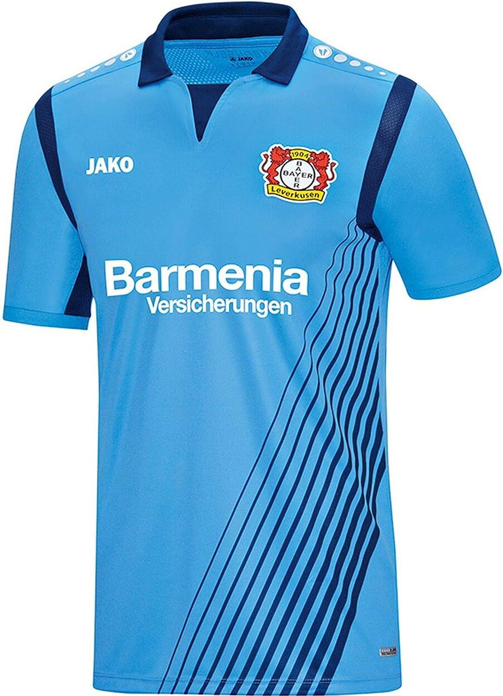JAKO Bayer 04 Leverkusen Auswärtstrikot 2018/2019 Maglia da Trasferta Bayer 04 Leverkusen da Uomo Uomo