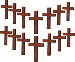 70 Pieces Wood Cross Pendants DIY Cross Charms Natural Wood Cross Party Crafts DIY Jewelry Projects (Color 1)