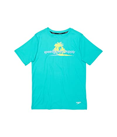 Speedo Kids Short Sleeve Graphic Swim Shirt (Little Kids/Big Kids)