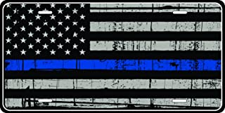 Blue LINE Licence Plate Police Law Enforcement Flag Novelty Tag Vanity Think Blue LIne