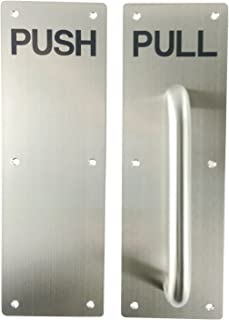 VRSS 304 Stainless Steel Commercial Push Pull Door Handle100MM300MM1.2MM (Satin Finish 1 Sets)
