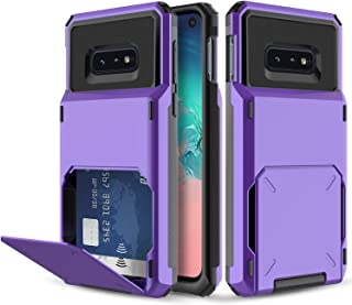 Elegant Choise Galaxy S10e Case, Galaxy S10e Wallet Case, Heavy Duty Shockproof Full Body Protection Rugged Bumper Case Cover with Card Slot Holder for Samsung Galaxy S10 Lite (Purple)