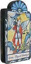 Modern Artisans San Miguel (Archangel Saint Michael) Handmade Retablo Plaque, 3.5 x 7.25 Inches
