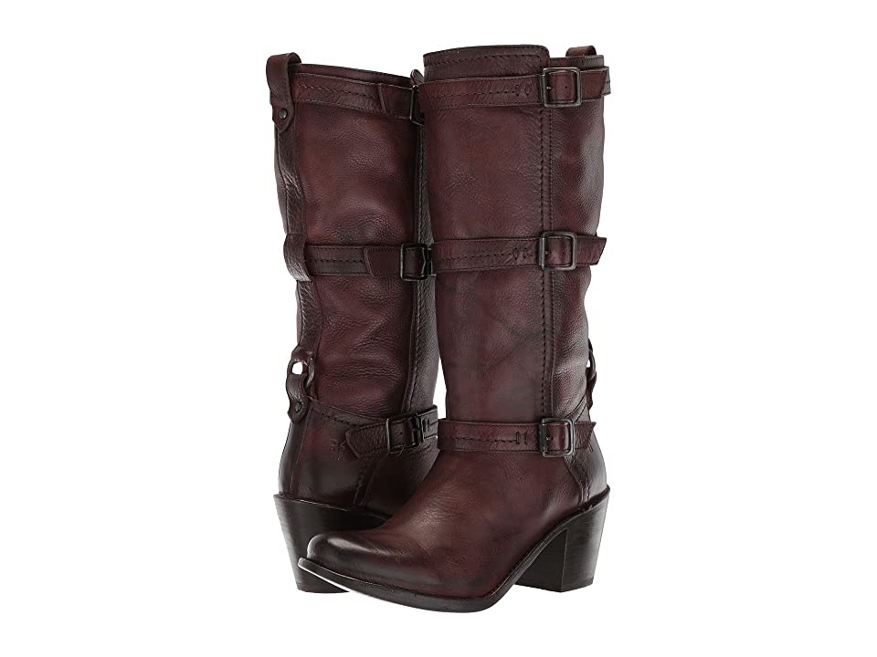 Frye Carmen 3 Strap (Dark Brown 2) Women