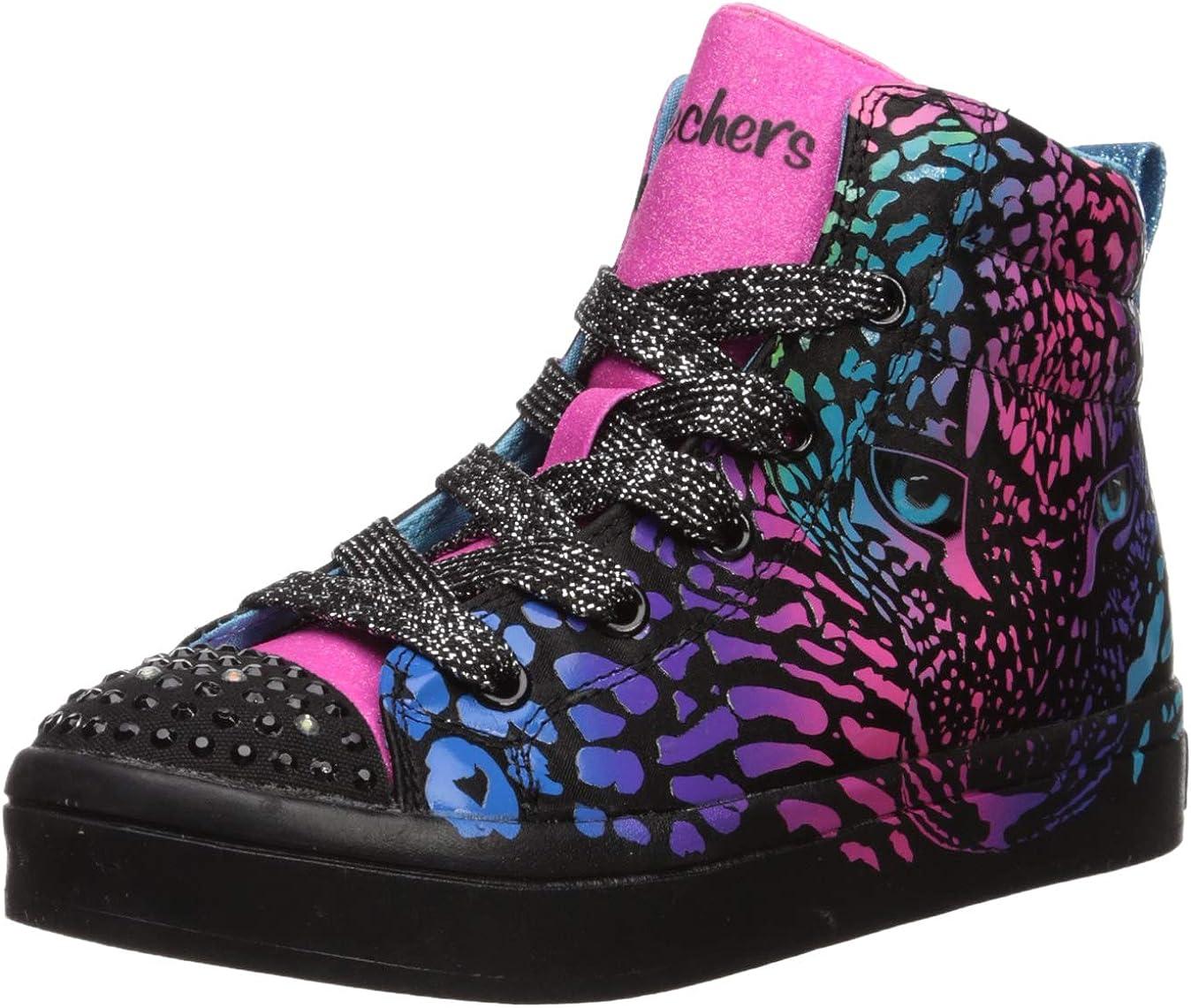 Skechers Unisex-Child TWI-Lites-Wild Cutie Sneaker