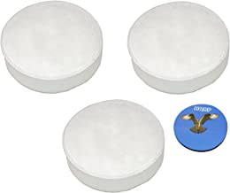 HQRP 3-Pack Foam Filters Compatible with Hoover Cyclonic SH20030, Linx BH50010 BH50015 BH50020 BH50030, TaskVac CH20110 Stick & Hand Vacuums, Part 410044001 Replacement Plus Coaster