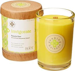 (190ml, Invigorate) - Root Scented Seeking Balance Invigorate Candle, Pomelo Pine