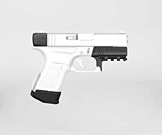 Recover Tactical Glock 43 Upgrade Kit - No Modifications Required, Glock Slide Rack Assist + Magazine Clip w/Finger Extension + Picatinny Rail