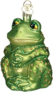 Old World Christmas Sitting Frog Glass Ornament 12221 FREE BOX New Decoration