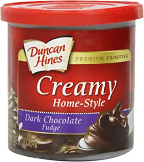 Duncan Hines Creamy Home-Style Frosting, Dark Chocolate Fudge, 16 Ounce (Pack of 8)