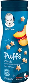 Gerber Peach Puffs, 42 gm