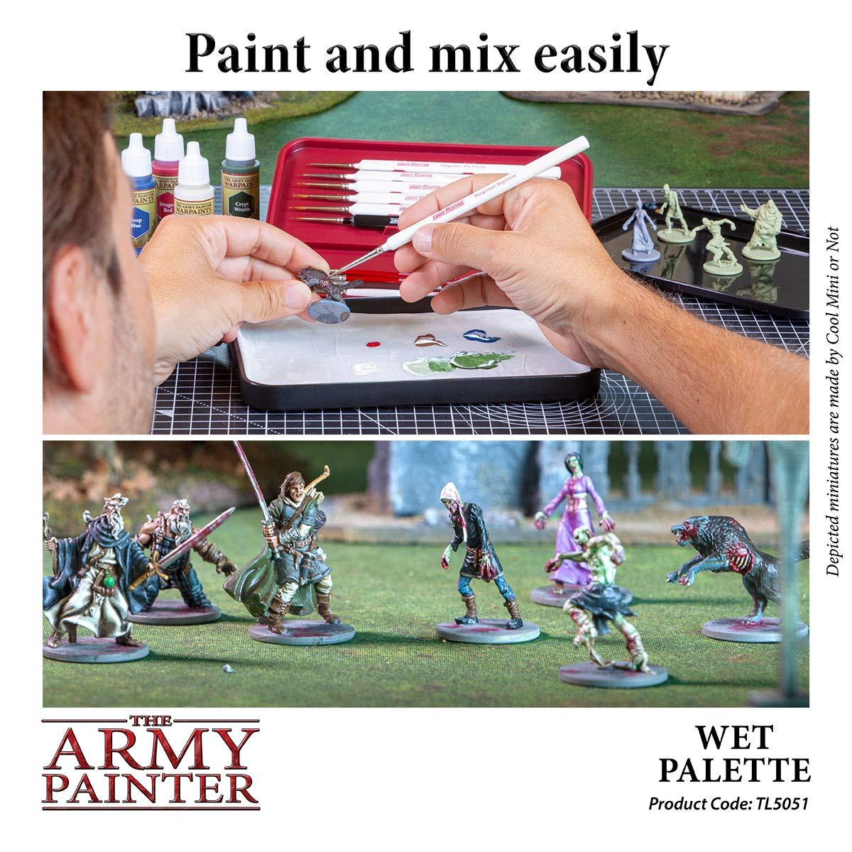 The Army Painter 🖌 | Paleta húmeda | Estuche Premium para Pinceles con 50 Ranuras y 2 Esponjas para Pintar Figuras Miniatura de Wargaming | Juego de Guerra: Amazon.es: Juguetes y juegos