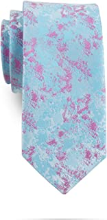Men's Skinny Novelty Floral Tie Colorful Pattern Wedding Necktie - Various Color