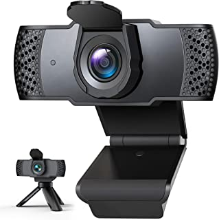 Webcam with Microphone for Desktop, 1080P HD Computer Camera with Privacy Cover Shutter & Tripod, USB PC Laptop Streaming ...