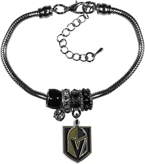Siskiyou NHL Vegas Golden Knights Unisex Sportseuro Bead Bracelet, Black, One Size