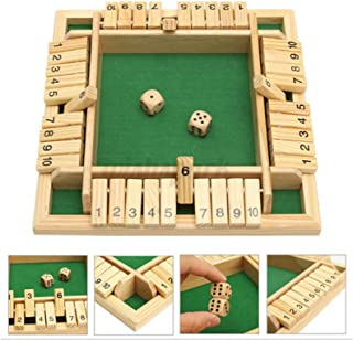 Shut The Box Game, Migaven Shut The Box Dice Game Wooden 2- 4 Player Party Favors for Kids Adults Smart Game for Learning ...