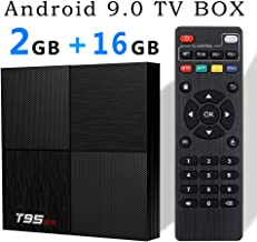 EVANPO Android 9.0 TV Box, Smart Box Android TV Player 2GB 16GB Quadcore cortex-A53 Media Box Supporting 6K Full HD/H.265/ 3D Outputs Media Player Set Top Box