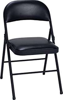 Cosco Vinyl Folding Chair Black (4-pack)
