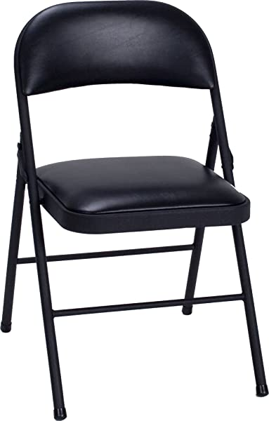 Cosco Vinyl Folding Chair Black 4 Pack