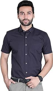 FIFTH ANFOLD Formal Half Sleev/Short Sleev Copper Brown Pure Cotton Plain Solid Men Shirt
