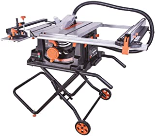 "Evolution Power Tools RAGE5S 10"" TCT Multi-Material Table Saw, 10"", Orange"
