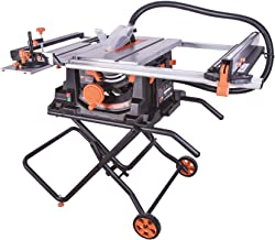 "Evolution Power Tools RAGE5S 10"" TCT Multi-Material Table Saw, 10"", Orange"