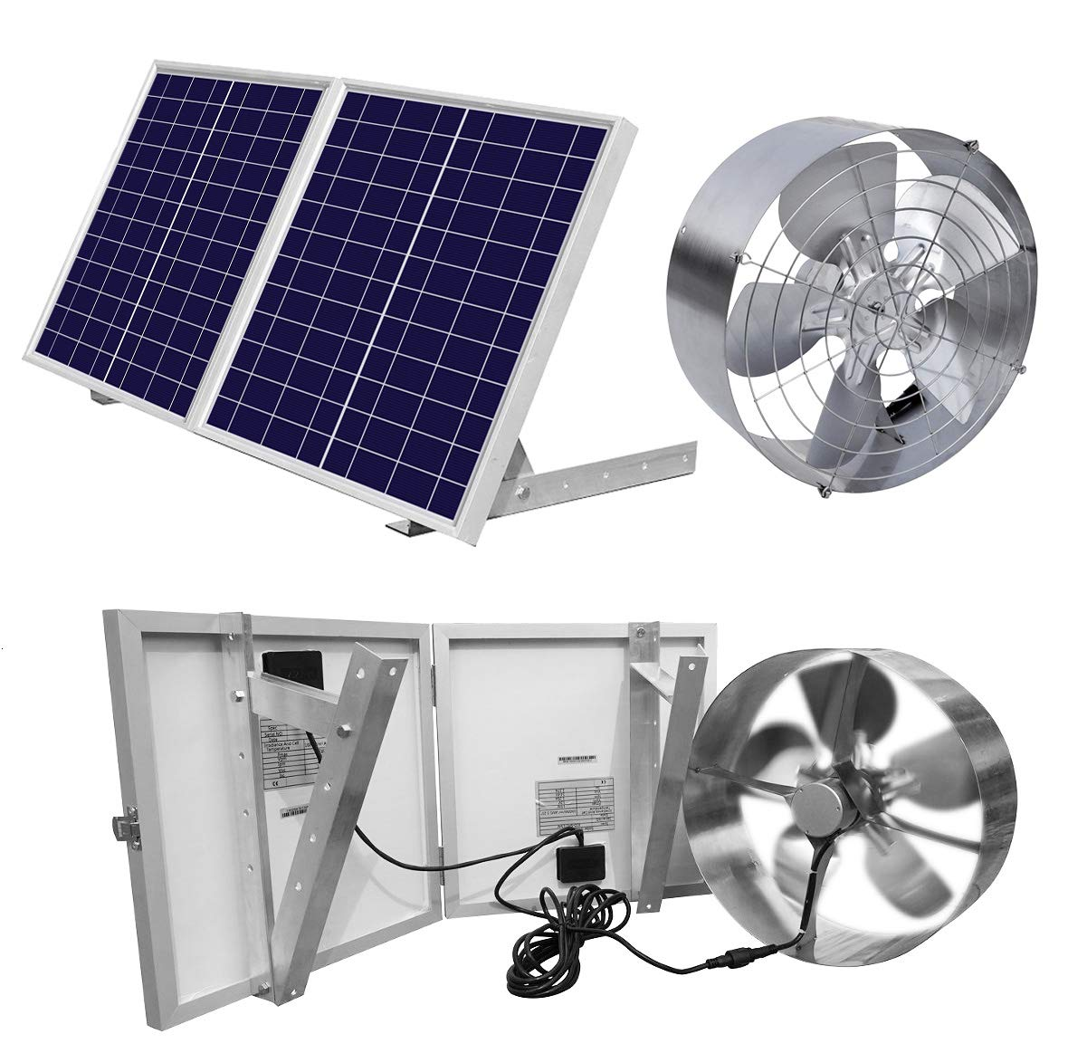 Solar Powered Attic Ventilator Gable Roof Vent Fan