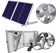 20W 12V USB Portable Solar Panel Fan for Outdoor Home Greenhouse Ventilator PK