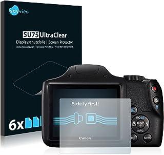 savvies Protector Pantalla Compatible con Canon PowerShot SX540 HS (6 Unidades) Pelicula Ultra Transparente