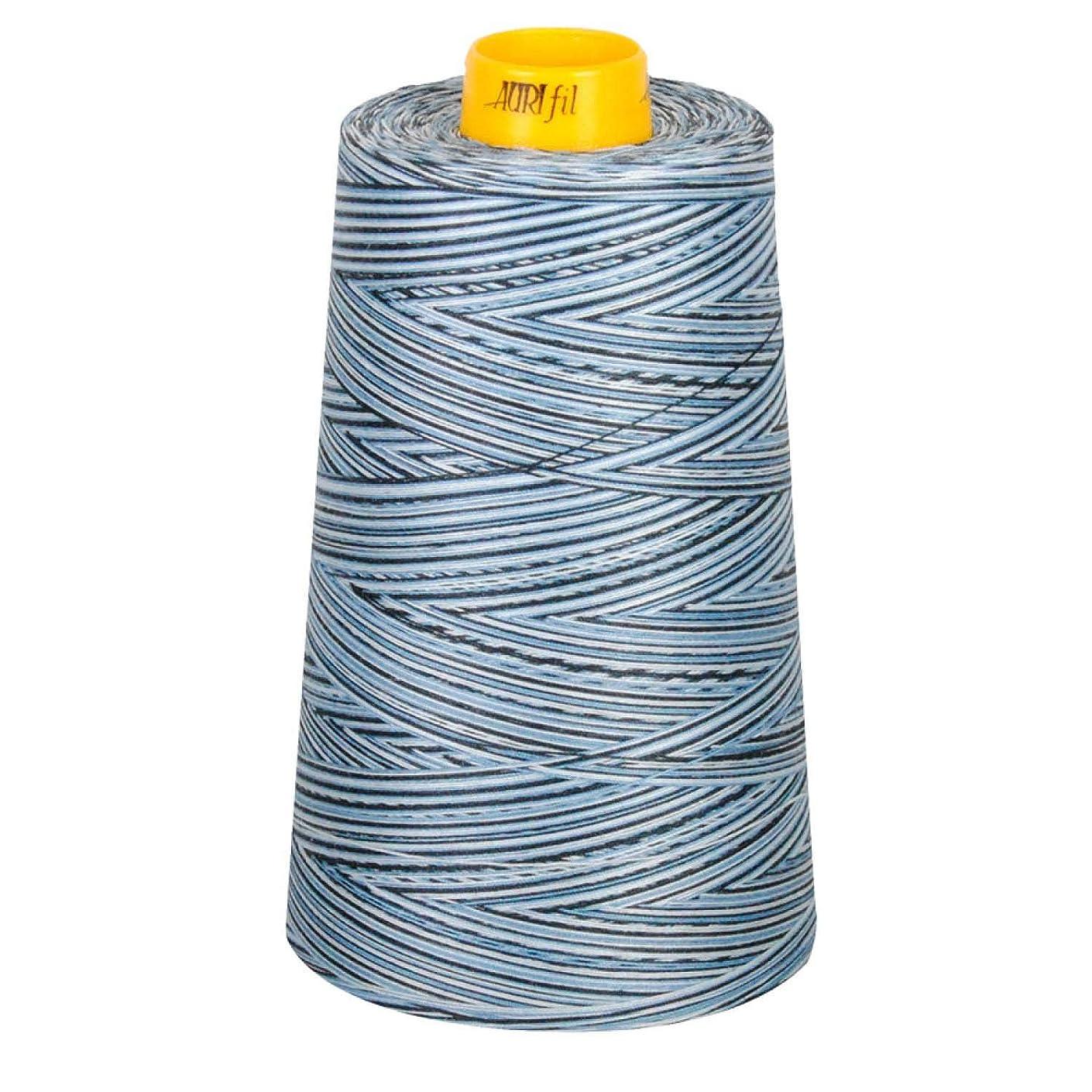 Aurifil MK403CO4669 Mako Cotton 3-ply Longarm 40wt 3280yds Stonewash Blues Thread