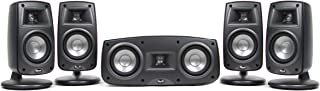 Klipsch Synergy Quintet III Home Theater Speaker System (Set of Five, Black) (Discontinued by Manufacturer) (Renewed)