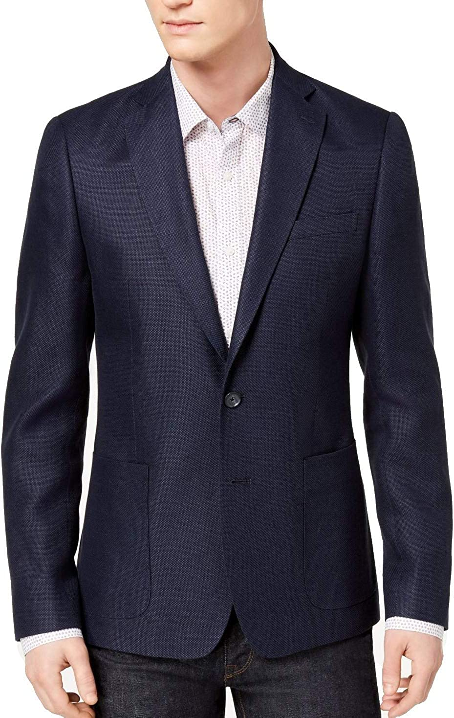 DKNY Mens Modern-Fit One Button Blazer Jacket