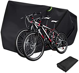 Black Single Windproof Cycle Bicycle Bike Cover Snow Rain Resistant Rust Prevent