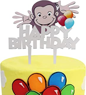BIRTHDAY CAKE TOPPER A4 FUNNY MONKEY EDIBLE ICING PARTY