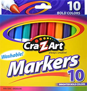 Cra-Z-art Bold Washable Markers, Box of 10 (1003-24)