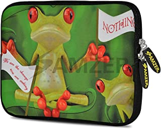 Amzer Frog Wave Design Neoprene Soft Sleeve for Up to 10.5 inch Tablet