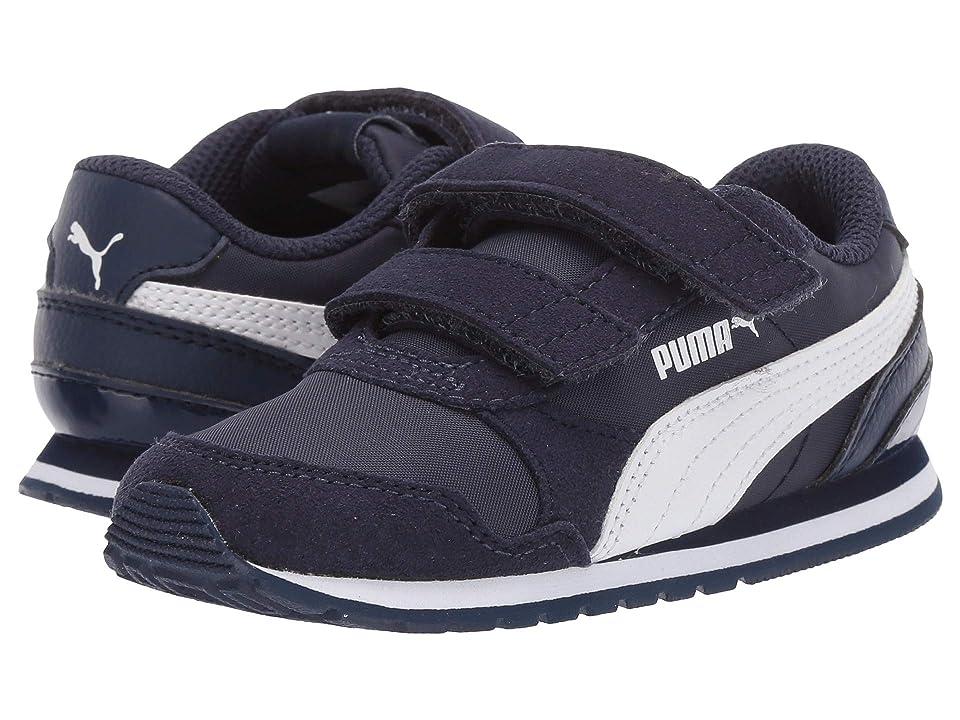 Puma Kids ST Runner v2 NL V (Toddler) (Peacoat/Puma White) Boys Shoes