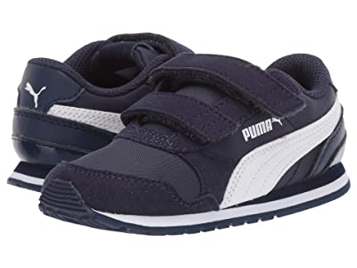 Puma Kids ST Runner v2 NL V (Toddler) (Peacoat/Puma White) Boys Shoes